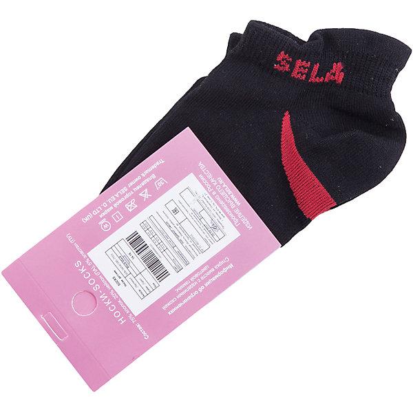Носки SELA для девочкиНоски<br>Характеристики товара:<br><br>• цвет: черный<br>• состав ткани: 75% хлопок, 20% нейлон, 5% эластан<br>• сезон: круглый год<br>• страна бренда: Россия<br>• страна изготовитель: Китай<br><br>Такие носки для девочки от Sela декорированы лаконичным рисунком. Детские носки сделаны из качественного материала с содержанием натурального хлопка. Удобные трикотажные носки были разработаны специально для детей.<br><br>Носки Sela (Села) для девочки можно купить в нашем интернет- магазине.<br>Ширина мм: 87; Глубина мм: 10; Высота мм: 105; Вес г: 115; Цвет: черный; Возраст от месяцев: 15; Возраст до месяцев: 18; Пол: Женский; Возраст: Детский; Размер: 20-22,14,16-18,18-20; SKU: 7032372;