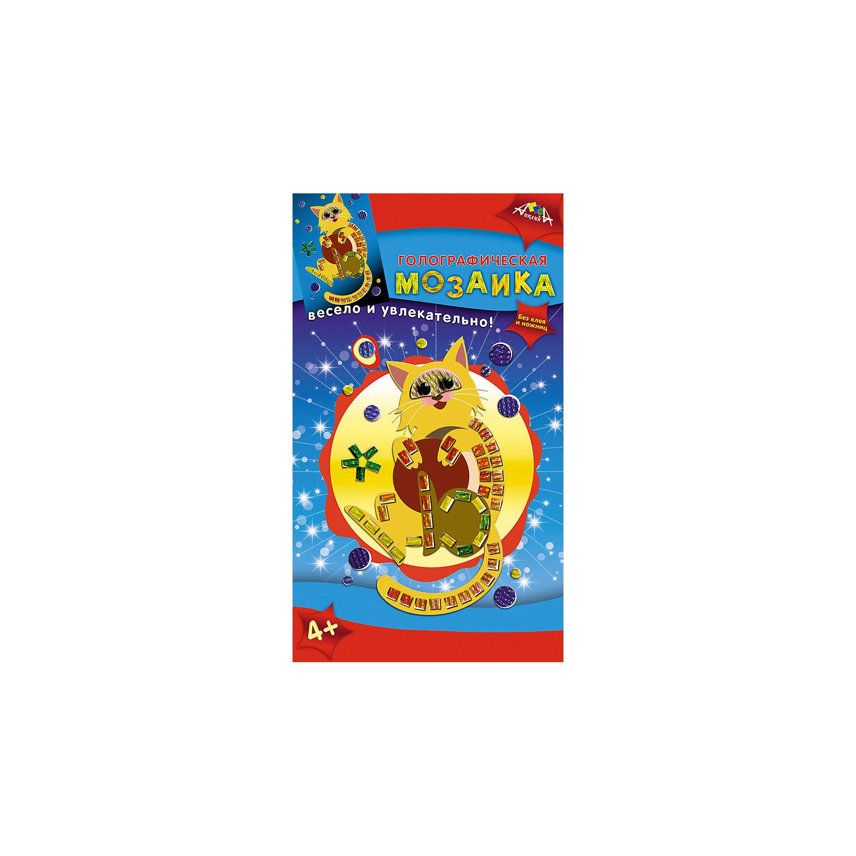 Набор для детского творчества Живые картинки: Мишка, Золотая рыбка, Кот, Веселая рыбкаПоследняя цена<br>Характеристики:<br><br>• возраст: от 4 лет<br>• комплектация: 4 набора (Голографическая мозаика 2 шт.; Гелевая мозаика; Веселая гравюра)<br>• в наборах «Голографическая мозаика»: цветная картонная основа А6, цветные пластиковые элементы с голографическим эффектом<br>• в наборе «Гелевая мозаика»: цветная картонная основа, цветные пластиковые элементы<br>• в наборе «Веселая гравюра»: картонная основа с нанесенным контуром, палочка-штихель<br>• размер упаковки: 28,5х17,5х1,2 см.<br>• вес: 135 гр.<br><br>Набор для творчества содержит гравюру для маленьких и три мозаики (две голографические и гелевую).<br><br>В набор «Веселая гравюра» входит плотный картон со специальным покрытием, на который нанесен рисунок. С помощью специальной палочки-штихеля изображение процарапывается, и из-под слоя краски появляется контрастный рисунок с изображением рыбки.<br><br>Наборы мозаик позволят создать замечательные картинки с изображением медвежонка (гелевая мозаика), золотой рыбки и кота (голографическая мозаика). Процесс создания картин прост. Для работы не потребуется ни клея, ни ножниц. На цветную картонную основу нужно приклеить элементы из самоклеящегося пластика. Картинку на упаковке можно использовать как образец.<br><br>Набор для детского творчества «Живые картинки» способствует формированию у ребенка усидчивости, внимательности и аккуратности, развивает мелкую моторику рук.<br><br>Набор для детского творчества «Живые картинки: Мишка, Золотая рыбка, Кот, Веселая рыбка» можно купить в нашем интернет-магазине.<br><br>Ширина мм: 285<br>Глубина мм: 175<br>Высота мм: 12<br>Вес г: 135<br>Возраст от месяцев: 48<br>Возраст до месяцев: 2147483647<br>Пол: Унисекс<br>Возраст: Детский<br>SKU: 7033662