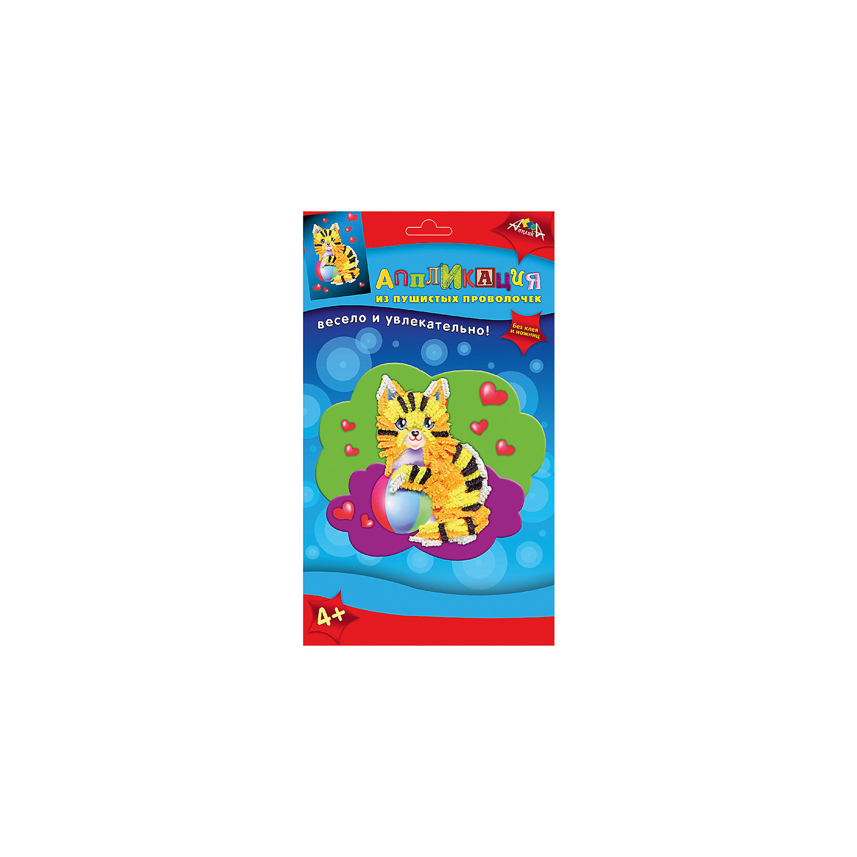 Набор для детского творчества Аппликация в подарок Павлин, Сова и КошкаБумага<br>Характеристики:<br><br>• возраст: от 4 лет<br>• комплектация: аппликация из мягкого пластика (цветная картонная основа А6 и вырубленные элементы из самоклеящегося мягкого пластика); 2 аппликации из пушистых проволочек (2 цветные основы, пушистые проволочки, пластмассовые инструменты для сгибания); инструкция<br>• размер упаковки: 29х18,5х2 см.<br>• вес: 140 гр.<br><br>С помощью этого набора ребенок сможет создать своими руками три картины: аппликацию из мягкого пластика с изображением павлина, две аппликации из пушистых проволочек с изображением кошки и совы.<br><br>Процесс создания аппликаций прост, а результат великолепен. Для работы не потребуется ни клея, ни ножниц. Чтобы сделать аппликацию из мягкого пластика, необходимо отделить пластик от защитного слоя и приклеить к цветной основе. Чтобы сделать аппликацию из пушистых проволочек нужно согнуть пушистую проволочку и воткнуть ее в цветную основу.<br><br>Готовые работы станут прекрасным украшением дома или замечательным подарком.<br><br>Набор для детского творчества способствует формированию у ребенка усидчивости, внимательности и аккуратности, развивает мелкую моторику рук.<br><br>Набор для детского творчества «Аппликация в подарок Павлин, Сова и Кошка» можно купить в нашем интернет-магазине.<br><br>Ширина мм: 290<br>Глубина мм: 185<br>Высота мм: 20<br>Вес г: 140<br>Возраст от месяцев: 48<br>Возраст до месяцев: 2147483647<br>Пол: Унисекс<br>Возраст: Детский<br>SKU: 7033665
