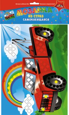 АппликА Набор для детского творчества Мозаики для самых маленьких Ракета-Грузовик-Рыбки, Груши фото-1