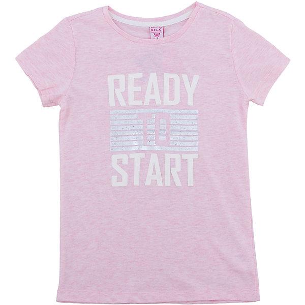 Футболка SELA для девочкиФутболки, поло и топы<br>Характеристики товара:<br><br>• цвет: розовый<br>• состав ткани: 93% хлопок, 7% эластан<br>• сезон: лето<br>• короткие рукава<br>• страна бренда: Россия<br>• страна производства: Индия<br><br>Футболка для девочки Sela - стильная молодежная вещь по доступной цене. Модная футболка для девочки поможет разнообразить гардероб ребенка. Розовая детская футболка украшена принтом. Футболка для ребенка сшита из качественного трикотажа, в составе которого преобладает натуральный хлопок. <br><br>Футболку для девочки Sela (Села) можно купить в нашем интернет-магазине.<br><br>Ширина мм: 199<br>Глубина мм: 10<br>Высота мм: 161<br>Вес г: 151<br>Цвет: розовый<br>Возраст от месяцев: 72<br>Возраст до месяцев: 84<br>Пол: Женский<br>Возраст: Детский<br>Размер: 122,152,146,140,134,128<br>SKU: 7035381