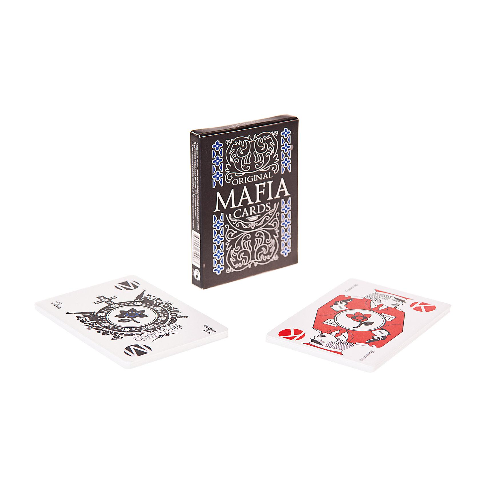 Настольная игра Мафия, Магеллан (пластиковая карта)Настольные игры для всей семьи<br>Характеристики:<br><br>• возраст: от 14 лет<br>• комплектация: 26 карт; турнирные и обучающие правила.<br>• материал карт: пластик<br>• количество игроков: от 6 до 20 человек<br>• время игры: 40-120 минут<br>• упаковка: картонная коробка<br>• размер упаковки: 11,5х6,7х1,5 см.<br>• вес: 40 гр.<br><br>«Мафия» - увлекательная психологическая ролевая игра с детективным сюжетом, которая любима игроками всех возрастов.<br><br>Жители города, обессилевшие от разгула мафии, принимают решение пересажать в тюрьму всех мафиози. В ответ мафия объявляет войну до полного уничтожения всех мирных жителей.<br><br>Цель игры: для мирных жителей - вычислить и «убить» мафию, для мафии – «перестрелять» всех мирных жителей. Окунитесь в мир, где единственные друзья - ваша интуиция и умение отличить правду от лжи. <br><br>Для ценителей игры «Мафия» будет интересна тем, что схема турнирных правил, изначально рассчитанная на обучение дипломатов.<br><br>Карты в колоде пластиковые, то есть отлично переносят самые сложные условия, с большим трудом пачкаются и не заминаются.<br><br>Игра развивает память, логику, сообразительность, командное взаимодействие, стратегическое мышление, актерские навыки.<br><br>Настольную игру Мафия, Магеллан (пластиковая карта) можно купить в нашем интернет-магазине.<br><br>Ширина мм: 115<br>Глубина мм: 67<br>Высота мм: 15<br>Вес г: 40<br>Возраст от месяцев: 168<br>Возраст до месяцев: 2147483647<br>Пол: Унисекс<br>Возраст: Детский<br>SKU: 7036601