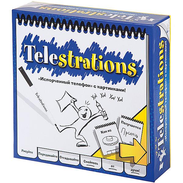 Настольная игра Испорченный телефон, МагелланНастольные игры для всей семьи<br>Характеристики:<br><br>• возраст: от 10 лет<br>• комплектация: 142 карточки со словами, на каждой - по 12 слов, то есть более 1700 слов; 8 специальных стирающихся блокнотов для записи и рисунков; 8 стирающихся маркеров; 8 тряпочек; песочные часы на 60 секунд; шестигранный кубик; коробка-холдер для карт; правила на русском языке с иллюстрациями и примерами.<br>• материал: картон, пластик<br>• количество игроков: от 4 до 8 человек<br>• время игры: 15-40 минут<br>• упаковка: картонная коробка<br>• размер упаковки: 26х26х7,5 см.<br>• вес: 800 гр.<br><br>Настольная игра «Испорченный телефон» - это замечательная игра для любой компании. Игра завоевала несколько престижных наград.<br><br>Принцип игры: вы получаете карточку со словами, рисуете одно из слов в блокноте, передаёте блокнот следующему игроку (а сами получаете другой с рисунком) - пробуете угадать слово по рисунку, записываете его, передаёте дальше. Таким образом, каждый блокнот проходит цепочку слово-рисунок-слово-рисунок-слово. Если исходное и финальное слова совпадают, вы получаете очки.<br><br>Подбор слов на карточках обеспечивает неоднозначность рисунков, что придаёт игре дополнительную глубину.<br><br>Особенности игры в очень высоком качестве компонентов: это специальные стирающиеся блокноты для рисования и маркеры, тряпочки для стирания. Благодаря этому решению играть удобно и просто где угодно, даже в дороге.<br><br>Настольную игру Испорченный телефон, Магеллан можно купить в нашем интернет-магазине.<br><br>Ширина мм: 260<br>Глубина мм: 260<br>Высота мм: 75<br>Вес г: 800<br>Возраст от месяцев: 120<br>Возраст до месяцев: 2147483647<br>Пол: Унисекс<br>Возраст: Детский<br>SKU: 7036608
