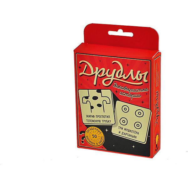 Настольная игра Друдлы, Магеллан (цветная версия)Настольные игры для всей семьи<br>Характеристики:<br><br>• возраст: от 7 лет<br>• комплектация: 50 цветных карточек с друдлами; 10 пустых карточек для того, чтобы вы сами нарисовали на них друдлы; правила игры.<br>• материал: картон<br>• количество игроков: от 2 до 10 человек<br>• время игры: 20 минут<br>• упаковка: картонная коробка<br>• размер упаковки: 14,5х10х3 см.<br>• вес: 105 гр.<br><br>В этом игровом наборе 50 загадочных картинок, скрывающих потаённый смысл, да еще и не один. Ваша задача угадать, увидеть или придумать, что же изображено на картинке. Описания к картинкам вы придумываете по очереди, а те, у кого постепенно заканчиваются варианты, просто вылетают из борьбы. Кто остался — забирает карточку. Победит в итоге тот, кто наберёт больше всех карт.<br><br>Настольная игра «Друдлы» - это игра для тех, кто любит посмеяться вместе с друзьями. Она развивает воображение и может быть использована в тренингах.<br><br>Настольную игру Друдлы, Магеллан (цветную версию) можно купить в нашем интернет-магазине.<br><br>Ширина мм: 145<br>Глубина мм: 100<br>Высота мм: 30<br>Вес г: 105<br>Возраст от месяцев: 84<br>Возраст до месяцев: 2147483647<br>Пол: Унисекс<br>Возраст: Детский<br>SKU: 7036630