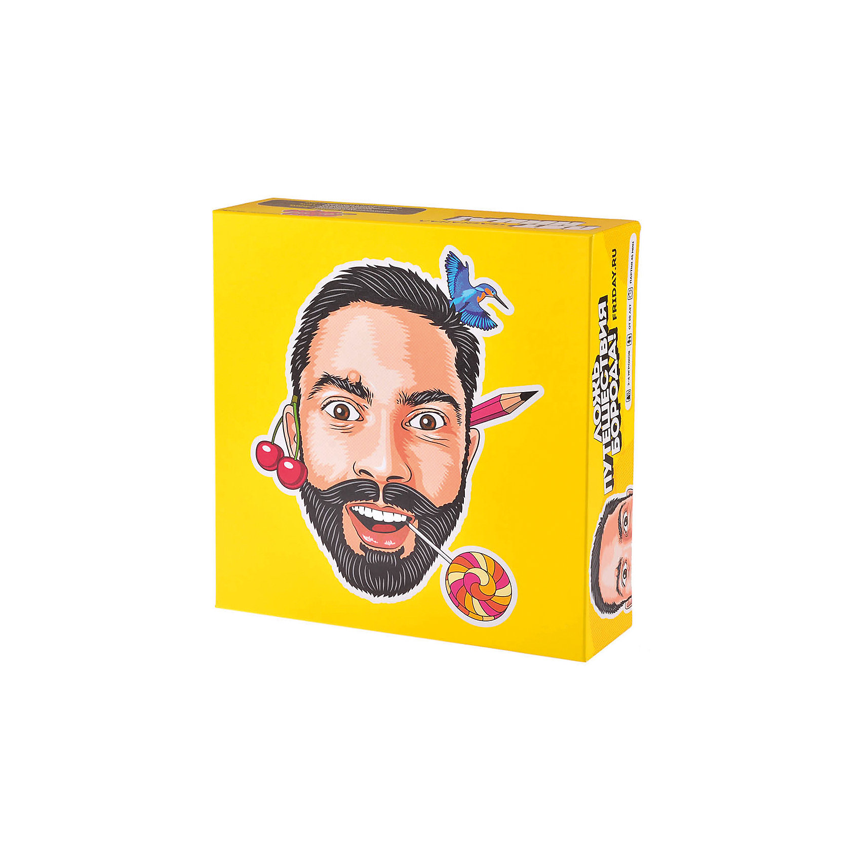 Настольная игра Верю - не верю Ложь Путешествия Борода!, МагелланНастольные игры для всей семьи<br>Характеристики:<br><br>• возраст: от 12 лет<br>• комплектация: карточки-бороды с вопросами—45 штук; карточки-фанты—43 штуки; карточки-бороды для самостоятельного заполнения— 5 штук; карточки-фанты для самостоятельного заполнения—7 штук.<br>• материал: картон<br>• количество игроков: от 2 до 6 человек<br>• упаковка: картонная коробка<br>• размер упаковки: 26х26х5,7 см.<br>• вес: 550 гр.<br><br>Веселая бородатая викторина с фантами от шоу «Верю не верю». Лживые и правдивые удивительные факты о городах, странах и народах. Половина карт в этой коробке выглядит как улыбающиеся хитрые бороды с усами. А вторая половина — это фанты для тех случаев, когда вы приняли ложь за правду или наоборот.<br><br>Участникам игры раздаются по 4 карточки-бороды. Игроки по очереди задают соперникам вопросы с карточек-бород. Соперник должен быстренько сообразить и решить, правдив этот факт или ложен («правда» или «ложь»). Если он дает неверный ответ, то проигрывает ход, берет карточку из стопки карточек с фантами, читает фант и выполняет его. В наборе есть несколько пустых карточек-бород и фантов для самостоятельного заполнения.<br><br>Игра «Верю - не верю Ложь Путешествия Борода!» отлично подойдет для большой компании.<br><br>Настольную игру Верю - не верю Ложь Путешествия Борода!, Магеллан можно купить в нашем интернет-магазине.<br><br>Ширина мм: 260<br>Глубина мм: 260<br>Высота мм: 57<br>Вес г: 550<br>Возраст от месяцев: 144<br>Возраст до месяцев: 2147483647<br>Пол: Унисекс<br>Возраст: Детский<br>SKU: 7036641