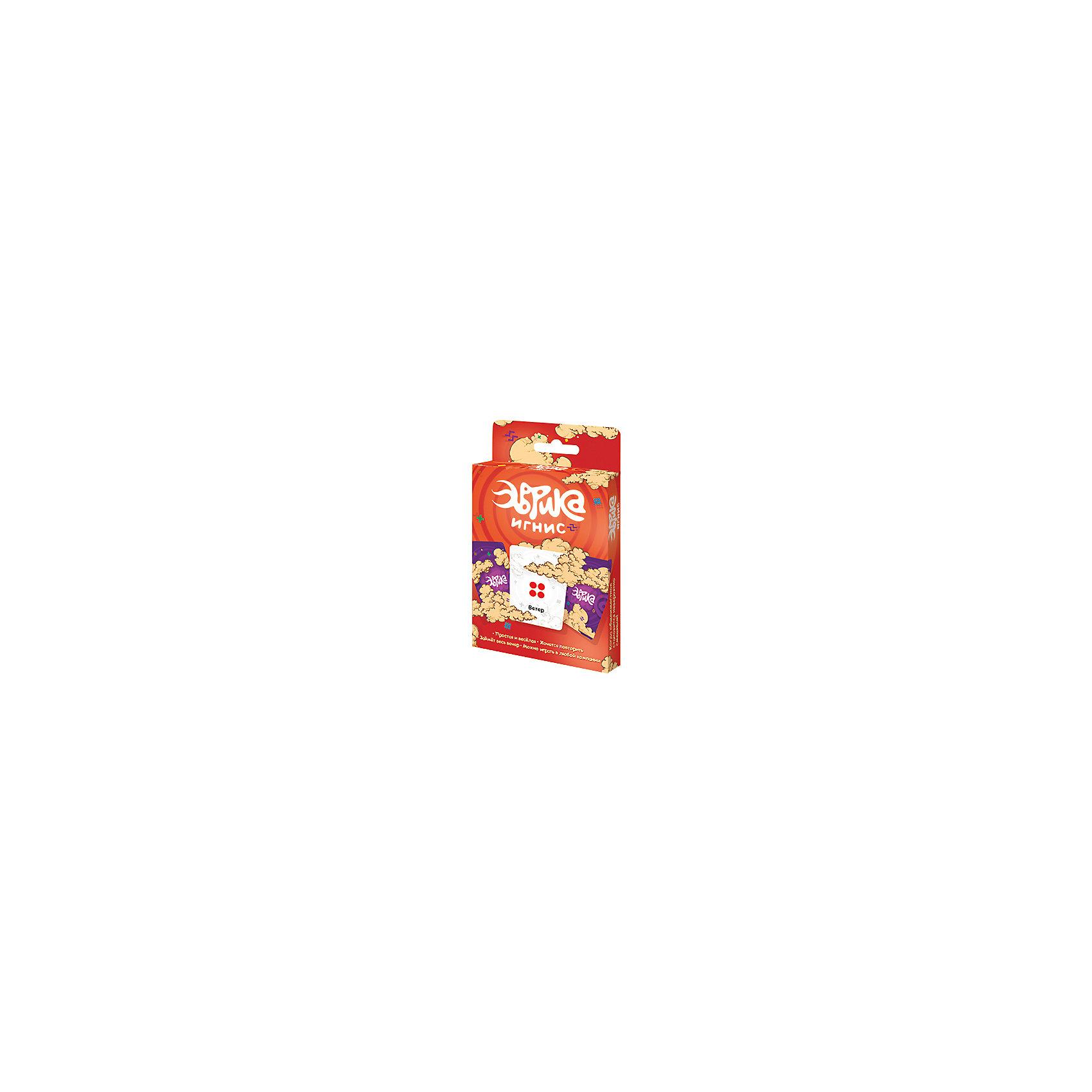 Настольная игра Эврика Игнис, МагелланНастольные игры для всей семьи<br>Характеристики:<br><br>• возраст: от 6 лет<br>• комплектация: 92 игровые карты; 8 специальных карт; правила.<br>• материал: картон<br>• количество игроков: от 3 до 6 человек<br>• время игры: 30-45 минут<br>• упаковка: картонная коробка<br>• размер упаковки: 16х9х2 см.<br>• вес: 150 гр.<br><br>Настольная игра «Эврика. Игнис» - это веселая игра для всей семьи, играя в которую можно отлично провести вечер.<br><br>В комплекте вы найдете 92 игровые карты. На всех картах имеются символы (всего их 8) и темы. Игроки по очереди выкладывают перед собой карты, и если у двух игроков совпадают символы на картах, один должен быстрее другого назвать слово, соответствующее вещи или понятию с карты противника. Тот, кто первым назовет слово, забирает карту противника себе. <br><br>Еще может выйти ничья, если вы одновременно назовете подходящие слова под ваши карты, тогда другой игрок должен вынуть карту из закрытой колоды, и вы будете наперегонки придумывать слово к ней. Бывает, что игрок называет слово первым, но оно не подходит, тогда общим советом игроков решается, можно ли назвать его победителем. В наборе есть специальные карты, которые создают неожиданные совпадения.<br><br>В этой игре у вас будет много общения, динамики и азарта. А в конце игры все считают карты, которые получили в поединках от поверженных противников. У кого больше - тот победил.<br><br>Настольная игра «Эврика Игнис» — самостоятельная игра серии. Карточки от неё подходят и ко всем другим «Эврикам», если вы захотите смешать наборы.<br><br>Настольную игру Эврика Игнис, Магеллан можно купить в нашем интернет-магазине.<br><br>Ширина мм: 160<br>Глубина мм: 90<br>Высота мм: 20<br>Вес г: 150<br>Возраст от месяцев: 72<br>Возраст до месяцев: 2147483647<br>Пол: Унисекс<br>Возраст: Детский<br>SKU: 7036648
