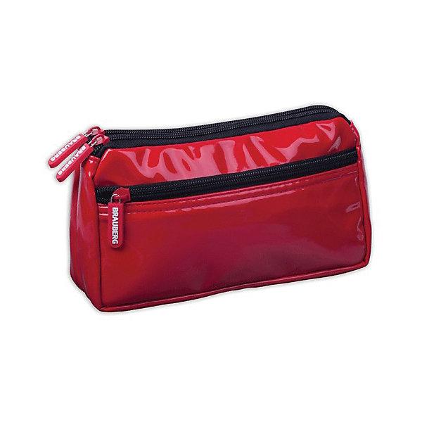 Пенал-косметичка BRAUBERG под глянц.кожу, красный, 2 отд. 1 карман, Милан, 20*10*4 смПеналы без наполнения<br>Пенал-косметичка представлен в красном цвете. Выполнен из мягкой искусственной кожи и отличается элегантным и лаконичным дизайном. Стильный аксессуар позволяет систематизировать и хранить все необходимые мелочи в порядке.<br><br>Ширина мм: 56<br>Глубина мм: 10<br>Высота мм: 1<br>Вес г: 110<br>Возраст от месяцев: 72<br>Возраст до месяцев: 216<br>Пол: Женский<br>Возраст: Детский<br>SKU: 7036856