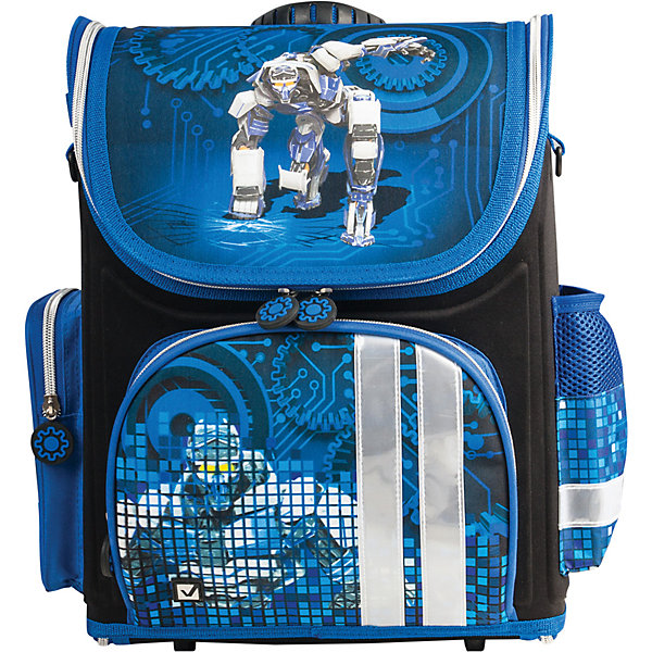 Ранец жесткокаркасный раскладной BRAUBERG для начальной школы, мальчик, Робот, 20 литров, 37*29*17смРанцы<br>Рюкзак Робот предназначен для мальчиков 7-10 лет. Он выполнен в черном и темно-синем цвете, а дополняет его изображение робота, которое привлечет внимание маленьких техников.<br>Ширина мм: 60; Глубина мм: 300; Высота мм: 210; Вес г: 870; Возраст от месяцев: 72; Возраст до месяцев: 216; Пол: Мужской; Возраст: Детский; SKU: 7036864;