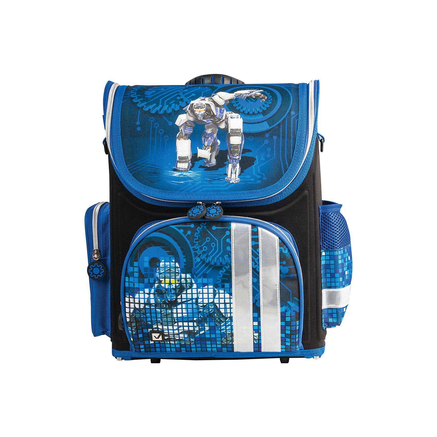 Ранец жесткокаркасный раскладной BRAUBERG для начальной школы, мальчик, Робот, 20 литров, 37*29*17смРанцы<br>Рюкзак Робот предназначен для мальчиков 7-10 лет. Он выполнен в черном и темно-синем цвете, а дополняет его изображение робота, которое привлечет внимание маленьких техников.<br><br>Ширина мм: 60<br>Глубина мм: 300<br>Высота мм: 210<br>Вес г: 870<br>Возраст от месяцев: 72<br>Возраст до месяцев: 216<br>Пол: Мужской<br>Возраст: Детский<br>SKU: 7036864