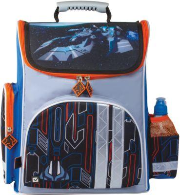 Ранец жесткокаркасный BRAUBERG, для начальной школы, мальчик, Космолет, 20 литров, 38*29*16 см