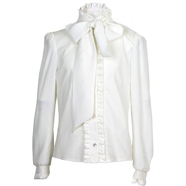 Блузка Смена для девочкиБлузки и рубашки<br>Характеристики товара:<br><br>• цвет: белый<br>• состав: 70% хлопок, 27% полиэстер, 3% полиуретан<br>• сезон: демисезон<br>• особенности модели: школьная<br>• застежка: пуговицы<br>• длинные рукава<br>• декор: бант, рюши<br>• страна бренда: Россия<br>• страна производства: Россия<br><br>Белая детская блузка с длинным рукавом декорирована эффектным бантом. Легкая блузка для ребенка соответствует школьному дресс-коду. Школьная блузка комфортно сидит на теле благодаря преобладанию в составе материала натурального хлопка. <br><br>Блузку Смена для девочки можно купить в нашем интернет-магазине.<br><br>Ширина мм: 186<br>Глубина мм: 87<br>Высота мм: 198<br>Вес г: 197<br>Цвет: белый<br>Возраст от месяцев: 132<br>Возраст до месяцев: 144<br>Пол: Женский<br>Возраст: Детский<br>Размер: 122,128,134,140,152,158,164,146<br>SKU: 7037315
