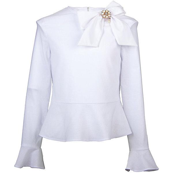 Блузка Смена для девочкиБлузки и рубашки<br>Характеристики товара:<br><br>• цвет: белый<br>• состав: 70% хлопок, 27% полиэстер, 3% полиуретан<br>• сезон: демисезон<br>• особенности модели: школьная<br>• застежка: молния<br>• длинные рукава<br>• декор: бант<br>• страна бренда: Россия<br>• страна производства: Россия<br><br>Эта блузка для ребенка соответствует школьному дресс-коду. Школьная блузка с длинным рукавом отлично сочетается с юбками и брюками. Белая детская блузка красиво смотрится благодаря оригинальному декору. <br><br>Блузку Смена для девочки можно купить в нашем интернет-магазине.<br><br>Ширина мм: 186<br>Глубина мм: 87<br>Высота мм: 198<br>Вес г: 197<br>Цвет: белый<br>Возраст от месяцев: 72<br>Возраст до месяцев: 84<br>Пол: Женский<br>Возраст: Детский<br>Размер: 122,164,158,158,152,146,140,134,128<br>SKU: 7037324