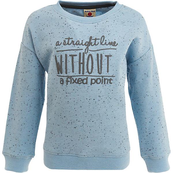 Толстовка Button Blue для девочкиТолстовки<br>Характеристики товара:<br><br>• цвет: голубой;<br>• состав: 60% хлопок, 40% полиэстер;<br>• сезон: демисезон;<br>• особенности: с рисунком, с надписью;<br>• свободный крой;<br>• спущенное плечо;<br>• эластичные манжеты и низ изделия;<br>• страна бренда: Россия;<br>• страна изготовитель: Китай.<br><br>Толстовка без капюшона для девочки. Серая толстовка с рисунком в цветочек и надписью на груди. Толстовка со спущенным плечевым швом, эластичными манжетами и резинкой по низу изделия.<br><br>Толстовку Button Blue (Баттон Блю) можно купить в нашем интернет-магазине.<br><br>Ширина мм: 190<br>Глубина мм: 74<br>Высота мм: 229<br>Вес г: 236<br>Цвет: голубой<br>Возраст от месяцев: 144<br>Возраст до месяцев: 156<br>Пол: Женский<br>Возраст: Детский<br>Размер: 158,98,104,110,116,122,128,134,140,146,152<br>SKU: 7037463