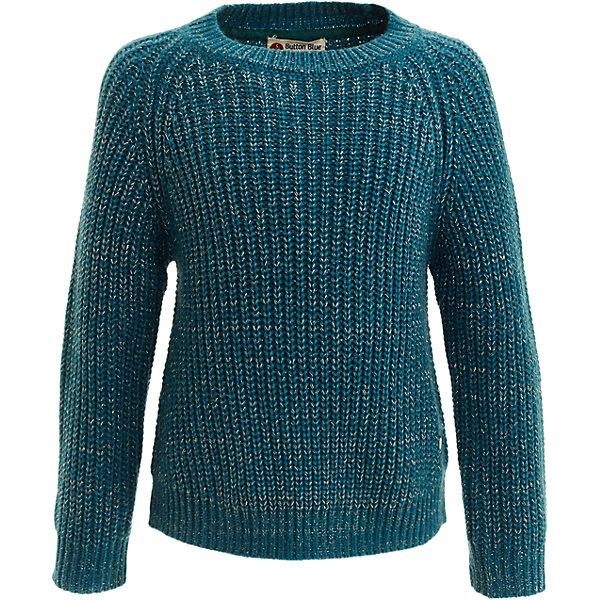 Свитер Button Blue для девочкиСвитера и кардиганы<br>Характеристики товара:<br><br>• цвет: бирюзовый;<br>• состав: 98% акрил, 2% люрекс;<br>• сезон: демисезон;<br>• особенности: вязаный, с люрексом;<br>• эластичные вязаные манжеты и низ изделия;<br>• свободный силуэт;<br>• страна бренда: Россия;<br>• страна изготовитель: Китай.<br><br>Вязаный свитер для девочки. Свитер свободного кроя, с добавлением металлизированной нити, придающей свитеру модный блеск.  <br><br>Свитер Button Blue (Баттон Блю) можно купить в нашем интернет-магазине.<br><br>Ширина мм: 190<br>Глубина мм: 74<br>Высота мм: 229<br>Вес г: 236<br>Цвет: голубой<br>Возраст от месяцев: 144<br>Возраст до месяцев: 156<br>Пол: Женский<br>Возраст: Детский<br>Размер: 158,152,146,140,134,128,122,116,110,104,98<br>SKU: 7037575