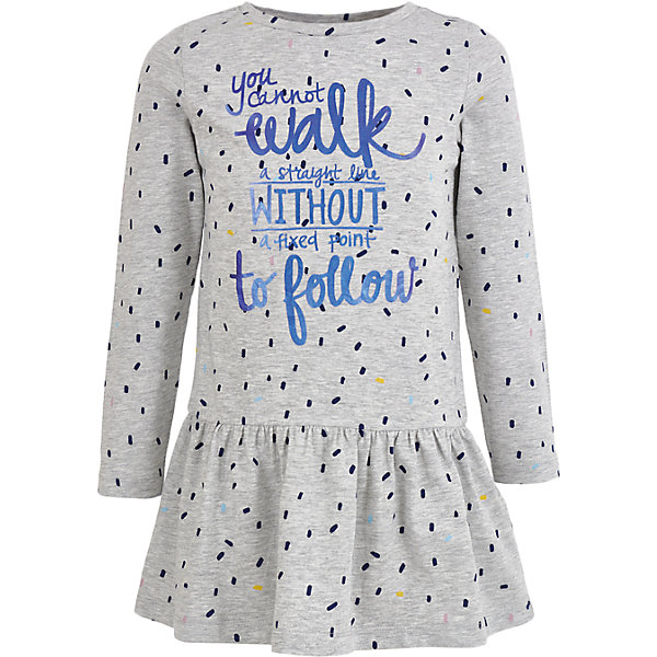 Платье Button Blue для девочкиПлатья и сарафаны<br>Характеристики товара:<br><br>• цвет: розовый;<br>• состав: 90% хлопок, 5% вискоза, 5% эластан;<br>• сезон: демисезон;<br>• особенности: с рисунком, с надписью;<br>• платье с длинным рукавом;<br>• юбка в небольшую складку;<br>• платье без застежки;<br>• страна бренда: Россия;<br>• страна изготовитель: Бангладеш.<br><br>Платье с длинным рукавом для девочки. Серое платье декорировано мелким рисунком и надписью спереди. Платье свободного кроя с заниженной талией.  <br><br>Платье Button Blue (Баттон Блю) можно купить в нашем интернет-магазине.<br>Ширина мм: 236; Глубина мм: 16; Высота мм: 184; Вес г: 177; Цвет: серый; Возраст от месяцев: 24; Возраст до месяцев: 36; Пол: Женский; Возраст: Детский; Размер: 98,158,104,110,116,122,128,134,140,146,152; SKU: 7037611;