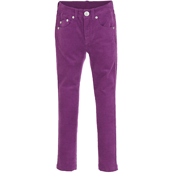 Брюки Button Blue для девочкиБрюки<br>Характеристики товара:<br><br>• цвет: фиолетовый;<br>• состав: 98% хлопок, 2% эластан;<br>• сезон: демисезон;<br>• особенности: велюровые;<br>• застежка: ширинка на молнии и пуговица;<br>• внутренняя регулировка талии;<br>• два накладных кармана сзади;<br>• два кармана спереди + мини-карман;<br>• декорированы клепками;<br>• страна бренда: Россия;<br>• страна изготовитель: Китай.<br><br>Велюровые брюки для девочки. Фиолетовые брюки застегиваются на ширинку на молнии и пуговицу, талия внутри регулируется при помощи резинки с пуговицей. Брюки с карманами, спереди карманы декорированы клепками.<br><br>Брюки Button Blue (Баттон Блю) можно купить в нашем интернет-магазине.<br><br>Ширина мм: 215<br>Глубина мм: 88<br>Высота мм: 191<br>Вес г: 336<br>Цвет: лиловый<br>Возраст от месяцев: 24<br>Возраст до месяцев: 36<br>Пол: Женский<br>Возраст: Детский<br>Размер: 98,158,152,146,140,134,128,122,116,110,104<br>SKU: 7037805