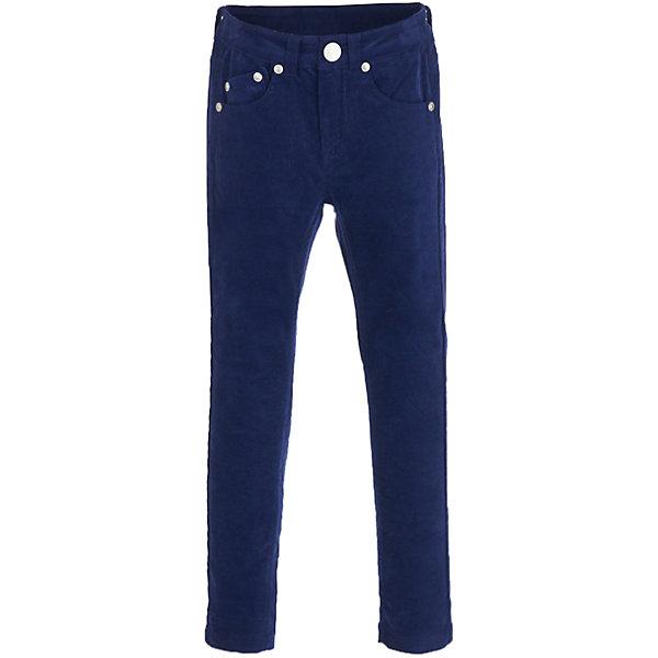 Брюки Button Blue для девочкиБрюки<br>Характеристики товара:<br><br>• цвет: синий;<br>• состав: 98% хлопок, 2% эластан;<br>• сезон: демисезон;<br>• особенности: велюровые;<br>• застежка: ширинка на молнии и пуговица;<br>• внутренняя регулировка талии;<br>• два накладных кармана сзади;<br>• два кармана спереди + мини-карман;<br>• декорированы клепками;<br>• страна бренда: Россия;<br>• страна изготовитель: Китай.<br><br>Велюровые брюки для девочки. Синие брюки застегиваются на ширинку на молнии и пуговицу, талия внутри регулируется при помощи резинки с пуговицей. Брюки с карманами, спереди карманы декорированы клепками.<br><br>Брюки Button Blue (Баттон Блю) можно купить в нашем интернет-магазине.<br>Ширина мм: 215; Глубина мм: 88; Высота мм: 191; Вес г: 336; Цвет: темно-синий; Возраст от месяцев: 24; Возраст до месяцев: 36; Пол: Женский; Возраст: Детский; Размер: 98,158,152,146,140,134,128,122,116,110,104; SKU: 7037817;