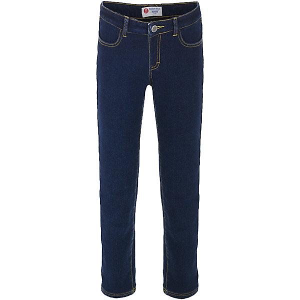 Джинсы Button Blue для девочкиДжинсы<br>Характеристики товара:<br><br>• цвет: темно-синий;<br>• состав: 54% хлопок 44,5% полиэстер 1,5% эластан;<br>• подкладка: 100% полиэстер, флис;<br>• сезон: зима, демисезон;<br>• особенности: на флисе, теплые;<br>• застежка: ширинка на молнии и пуговица;<br>• внутренняя регулировка талии;<br>• два накладных кармана сзади;<br>• два кармана спереди;<br>• страна бренда: Россия;<br>• страна изготовитель: Китай.<br><br>Джинсы на флисе для девочки. Теплые джинсы застегиваются на ширинку на молнии и пуговицу, талия внутри регулируется при помощи резинки с пуговицей. Джинсы с карманами.<br><br>Джинсы Button Blue (Баттон Блю) можно купить в нашем интернет-магазине.<br>Ширина мм: 215; Глубина мм: 88; Высота мм: 191; Вес г: 336; Цвет: темно-синий; Возраст от месяцев: 108; Возраст до месяцев: 120; Пол: Женский; Возраст: Детский; Размер: 140,134,128,122,116,110,158,104,98,152,146; SKU: 7037853;