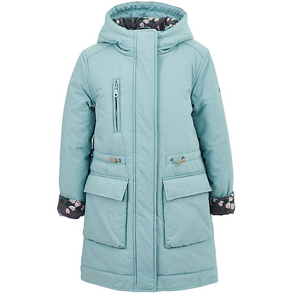 Полупальто Button Blue для девочкиВерхняя одежда<br>Характеристики товара:<br><br>• цвет: голубой;<br>• состав: 60% хлопок, 40% нейлон;<br>• подкладка: 100% хлопок, 100% полиэстер;<br>• утеплитель: 100% полиэстер, 240 г/м2;<br>• сезон: демисезон;<br>• температурный режим: от +7 до -10С;<br>• застежка: молния по всей длине;<br>• защита подбородка от защемления;<br>• капюшон не отстегивается;<br>• утяжка со стоперами по линии талии;<br>• манжеты рукавов регулируются при помощи кнопки;<br>• манжеты рукавов с отворотами;<br>• два накладных кармана на кнопках;<br>• нагрудный карман на молнии;<br>• страна бренда: Россия;<br>• страна изготовитель: Китай.<br><br>Демисезонное пальто с капюшоном для девочки. Пальто застегивается на молнию с защитой подбородка от защемления. Пальто со шнурком-утяжкой по линии талии, для защиты от ветра. Обхват манжет на кисти регулируется при помощи кнопки, манжеты с отворотом. Отвороты манжет и внутренняя часть капюшона контрастного темно-серого цвета с рисунком в цветочек. Имеется два больших кармана спереди, застегиваются на кнопки и один карман на молнии на груди.<br><br>Пальто Button Blue (Баттон Блю) можно купить в нашем интернет-магазине.<br>Ширина мм: 356; Глубина мм: 10; Высота мм: 245; Вес г: 519; Цвет: голубой; Возраст от месяцев: 120; Возраст до месяцев: 132; Пол: Женский; Возраст: Детский; Размер: 146,140,134,128,122,116,110,104,98; SKU: 7037865;