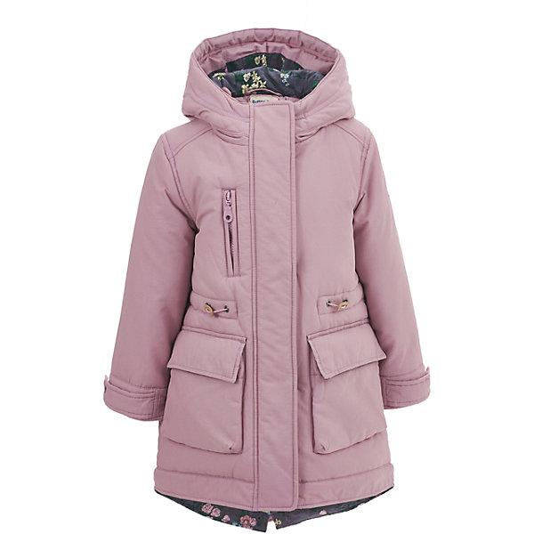 Полупальто Button Blue для девочкиВерхняя одежда<br>Характеристики товара:<br><br>• цвет: розовый;<br>• состав: 60% хлопок, 40% нейлон;<br>• подкладка: 100% хлопок, 100% полиэстер;<br>• утеплитель: 100% полиэстер, 240 г/м2;<br>• сезон: демисезон;<br>• температурный режим: от +7 до -10С;<br>• застежка: молния по всей длине;<br>• защита подбородка от защемления;<br>• капюшон не отстегивается;<br>• утяжка со стоперами по линии талии;<br>• манжеты рукавов регулируются при помощи кнопки;<br>• манжеты рукавов с отворотами;<br>• два накладных кармана на кнопках;<br>• нагрудный карман на молнии;<br>• страна бренда: Россия;<br>• страна изготовитель: Китай.<br><br>Демисезонное пальто с капюшоном для девочки. Пальто застегивается на молнию с защитой подбородка от защемления. Пальто со шнурком-утяжкой по линии талии, для защиты от ветра. Обхват манжет на кисти регулируется при помощи кнопки, манжеты с отворотом. Отвороты манжет и внутренняя часть капюшона контрастного темно-серого цвета с рисунком в цветочек. Имеется два больших кармана спереди, застегиваются на кнопки и один карман на молнии на груди.<br><br>Пальто Button Blue (Баттон Блю) можно купить в нашем интернет-магазине.<br><br>Ширина мм: 356<br>Глубина мм: 10<br>Высота мм: 245<br>Вес г: 519<br>Цвет: розовый<br>Возраст от месяцев: 24<br>Возраст до месяцев: 36<br>Пол: Женский<br>Возраст: Детский<br>Размер: 98,146,140,134,128,122,116,110,104<br>SKU: 7037875