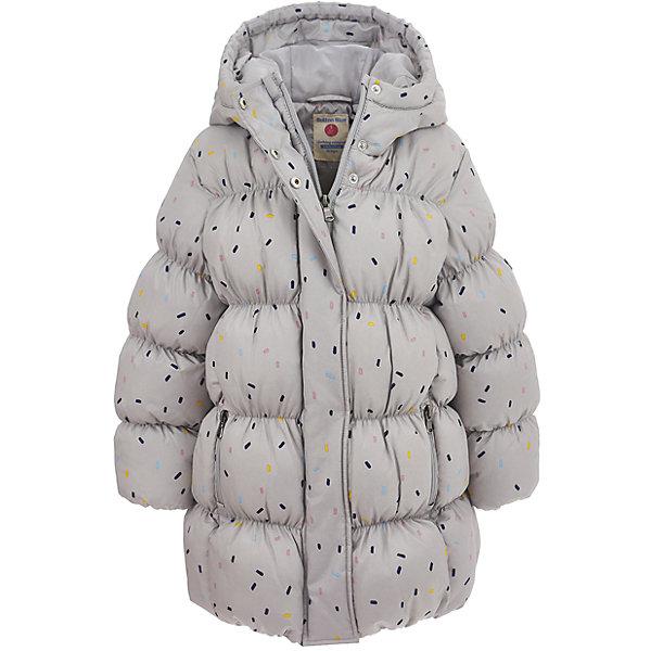 Куртка Button Blue для девочкиВерхняя одежда<br>Характеристики товара:<br><br>• цвет: серый;<br>• состав: 100% полиэстер;<br>• подкладка: 100% хлопок, 100% полиэстер;<br>• утеплитель: 100% полиэстер;<br>• сезон: демисезон;<br>• температурный режим: от +7 до -10С;<br>• застежка: молния по всей длине;<br>• защита подбородка от защемления;<br>• капюшон не отстегивается;<br>• эластичные манжеты рукавов;<br>• два кармана на молнии;<br>• дополнительная планка на кнопках;<br>• страна бренда: Россия;<br>• страна изготовитель: Китай.<br><br>Демисезонная куртка с капюшоном для девочки. Куртка застегивается на молнию с защитой подбородка от защемления. Сверху молнии дополнительная защитная планка на кнопках. Эластичные манжеты, два кармана на молнии. Куртка в мелкий рисунок.<br><br>Куртку Button Blue (Баттон Блю) можно купить в нашем интернет-магазине.<br><br>Ширина мм: 356<br>Глубина мм: 10<br>Высота мм: 245<br>Вес г: 519<br>Цвет: серый<br>Возраст от месяцев: 24<br>Возраст до месяцев: 36<br>Пол: Женский<br>Возраст: Детский<br>Размер: 98,158,152,146,140,134,128,122,116,110,104<br>SKU: 7037885