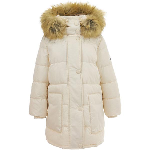 Полупальто Button Blue для девочкиВерхняя одежда<br>Характеристики товара:<br><br>• цвет: бежевый;<br>• состав: 100% полиэстер;<br>• подкладка: 100% хлопок, 100% полиэстер;<br>• утеплитель: 100% полиэстер;<br>• сезон: зима;<br>• температурный режим: от 0 до -25С;<br>• застежка: молния по всей длине;<br>• защита подбородка от защемления;<br>• дополнительная планка на кнопках;<br>• капюшон не отстегивается;<br>• искусственный мех на капюшоне;<br>• внутренняя регулировка обхвата талии;<br>• эластичные манжеты рукавов;<br>• высокий трикотажный воротник;<br>• два кармана;<br>• страна бренда: Россия;<br>• страна изготовитель: Китай.<br><br>Зимнее пальто с капюшоном для девочки. Пальто застегивается на молнию с защитой подбородка от защемления. Капюшон отделан искусственным мехом. Воротник – это мягкий, эластичный и теплый трикотаж. Имеется внутренняя регулировка обхвата талии.<br><br>Пальто Button Blue (Баттон Блю) можно купить в нашем интернет-магазине.<br><br>Ширина мм: 356<br>Глубина мм: 10<br>Высота мм: 245<br>Вес г: 519<br>Цвет: белый<br>Возраст от месяцев: 24<br>Возраст до месяцев: 36<br>Пол: Женский<br>Возраст: Детский<br>Размер: 98,158,152,146,140,134,128,122,116,110,104<br>SKU: 7037981