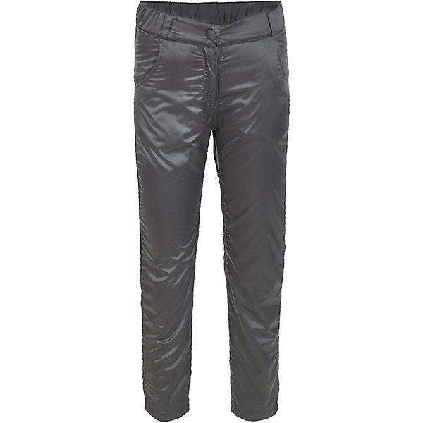 Брюки Button Blue для девочкиВерхняя одежда<br>Характеристики товара:<br><br>• цвет: черный;<br>• состав: 55% полиэстер, 45% нейлон;<br>• подкладка: 100% хлопок, 100% полиэстер, флис;<br>• без дополнительного утепления;<br>• сезон: демисезон;<br>• температурный режим: от +7 до -10С;<br>• застежка: ширинка на молнии, пуговица;<br>• сплошная флисовая подкладка;<br>• плащевая ткань сверху;<br>• непромокаемые;<br>• два боковых кармана;<br>• страна бренда: Россия;<br>• страна изготовитель: Китай.<br><br>Демисезонные брюки на флисе для девочки. Брюки застегиваются на ширинку на молнии и пуговицу-крючок. Сверху брюки выполнены из водонепроницаемой плащевой ткани, при этом изделие дышит. Внутри сплошная флисовая подкладка, которая сохранит тепло.<br><br>Брюки Button Blue (Баттон Блю) можно купить в нашем интернет-магазине.<br><br>Ширина мм: 215<br>Глубина мм: 88<br>Высота мм: 191<br>Вес г: 336<br>Цвет: темно-серый<br>Возраст от месяцев: 24<br>Возраст до месяцев: 36<br>Пол: Женский<br>Возраст: Детский<br>Размер: 98,158,152,146,140,134,128,122,116,110,104<br>SKU: 7038005