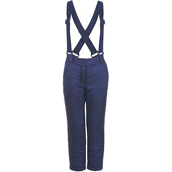 Брюки Button Blue для девочкиВерхняя одежда<br>Характеристики товара:<br><br>• цвет: синий;<br>• состав: 55% полиэстер, 45% нейлон;<br>• подкладка: 100% хлопок, 100% полиэстер, флис;<br>• утеплитель: 100% полиэстер, синтепон;<br>• сезон: зима;<br>• температурный режим: от 0 до -20С;<br>• застежка: ширинка на молнии, пуговица;<br>• гладкая подкладка из полиэстера;<br>• съемные, эластичные и регулируемые подтяжки;<br>• непромокаемые;<br>• два боковых кармана;<br>• страна бренда: Россия;<br>• страна изготовитель: Китай.<br><br>Зимние брюки с подтяжками для девочки. Брюки застегиваются на ширинку на молнии и пуговицу-крючок. Сверху брюки выполнены из водонепроницаемой ткани, при этом изделие дышит. Брюки дополнены съемными, эластичными и регулируемыми подтяжками.<br><br>Брюки Button Blue (Баттон Блю) можно купить в нашем интернет-магазине.<br>Ширина мм: 215; Глубина мм: 88; Высота мм: 191; Вес г: 336; Цвет: темно-синий; Возраст от месяцев: 24; Возраст до месяцев: 36; Пол: Женский; Возраст: Детский; Размер: 98,158,152,146,140,134,128,122,116,110,104; SKU: 7038025;