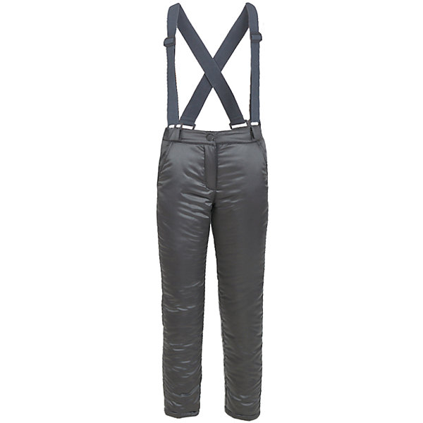 Брюки Button Blue для девочкиВерхняя одежда<br>Характеристики товара:<br><br>• цвет: черный;<br>• состав: 55% полиэстер, 45% нейлон;<br>• подкладка: 100% хлопок, 100% полиэстер, флис;<br>• утеплитель: 100% полиэстер, синтепон;<br>• сезон: зима;<br>• температурный режим: от 0 до -20С;<br>• застежка: ширинка на молнии, пуговица;<br>• гладкая подкладка из полиэстера;<br>• съемные, эластичные и регулируемые подтяжки;<br>• непромокаемые;<br>• два боковых кармана;<br>• страна бренда: Россия;<br>• страна изготовитель: Китай.<br><br>Зимние брюки с подтяжками для девочки. Брюки застегиваются на ширинку на молнии и пуговицу-крючок. Сверху брюки выполнены из водонепроницаемой ткани, при этом изделие дышит. Брюки дополнены съемными, эластичными и регулируемыми подтяжками.<br><br>Брюки Button Blue (Баттон Блю) можно купить в нашем интернет-магазине.<br><br>Ширина мм: 215<br>Глубина мм: 88<br>Высота мм: 191<br>Вес г: 336<br>Цвет: темно-серый<br>Возраст от месяцев: 24<br>Возраст до месяцев: 36<br>Пол: Женский<br>Возраст: Детский<br>Размер: 98,158,152,146,140,134,128,122,116,110,104<br>SKU: 7038037