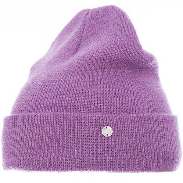 Шапка Button Blue для девочкиГоловные уборы<br>Характеристики товара:<br><br>• цвет: сиреневый;<br>• состав: 100% акрил;<br>• без дополнительного утепления;<br>• сезон: демисезон, зима;<br>• температурный режим: от +5 до -10С;<br>• особенности: вязаная;<br>• шапка с отворотом;<br>• страна бренда: Россия;<br>• страна изготовитель: Китай.<br><br>Вязаная шапка с отворотом для девочки. Демисезонная шапка для девочки дополнена металлический логотипом бренда.<br><br>Шапку Button Blue (Баттон Блю) можно купить в нашем интернет-магазине.<br>Ширина мм: 89; Глубина мм: 117; Высота мм: 44; Вес г: 155; Цвет: лиловый; Возраст от месяцев: 96; Возраст до месяцев: 108; Пол: Женский; Возраст: Детский; Размер: 56,50,52,54; SKU: 7038075;