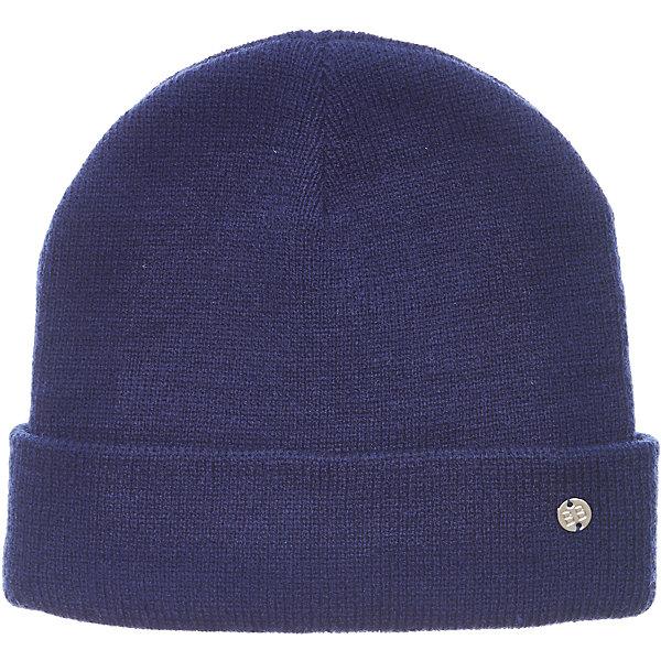 Шапка Button Blue для девочкиГоловные уборы<br>Характеристики товара:<br><br>• цвет: синий;<br>• состав: 100% акрил;<br>• без дополнительного утепления;<br>• сезон: демисезон, зима;<br>• температурный режим: от +5 до -10С;<br>• особенности: вязаная;<br>• шапка с отворотом;<br>• страна бренда: Россия;<br>• страна изготовитель: Китай.<br><br>Вязаная шапка с отворотом для девочки. Демисезонная шапка для девочки дополнена металлический логотипом бренда.<br><br>Шапку Button Blue (Баттон Блю) можно купить в нашем интернет-магазине.<br>Ширина мм: 89; Глубина мм: 117; Высота мм: 44; Вес г: 155; Цвет: темно-синий; Возраст от месяцев: 96; Возраст до месяцев: 108; Пол: Женский; Возраст: Детский; Размер: 56,50,54,52; SKU: 7038080;