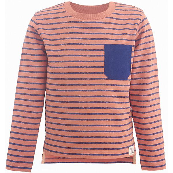 Футболка с длинным рукавом Button Blue для мальчикаФутболки с длинным рукавом<br>Характеристики товара:<br><br>• цвет: оранжевый;<br>• состав: 60% хлопок 35% полиэстер 5% эластан;<br>• сезон: демисезон;<br>• длинный рукав;<br>• особенности: в полоску;<br>• округлый горловой вырез;<br>• удлиненная спинка;<br>• накладной нагрудный карман;<br>• страна бренда: Россия;<br>• страна изготовитель: Бангладеш.<br><br>Лонгслив для мальчика. Оранжевый лонгслив в полоску, с мягким округлым горловым вырезом. Лонгслив с удлиненной спинкой сзади и накладным нагрудным карманом контрастного синего цвета.<br><br>Футболку Button Blue (Баттон Блю) можно купить в нашем интернет-магазине.<br><br>Ширина мм: 230<br>Глубина мм: 40<br>Высота мм: 220<br>Вес г: 250<br>Цвет: желтый<br>Возраст от месяцев: 24<br>Возраст до месяцев: 36<br>Пол: Мужской<br>Возраст: Детский<br>Размер: 98,158,152,146,140,134,128,122,116,110,104<br>SKU: 7038262
