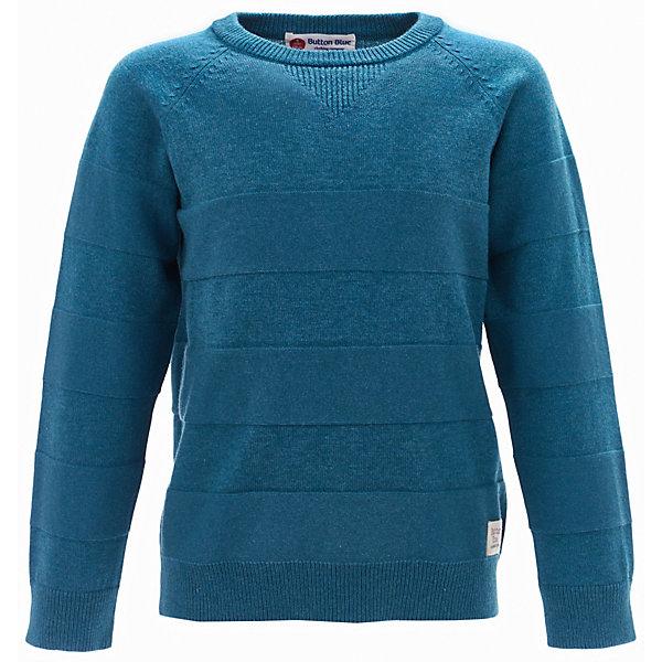 Джемпер Button Blue для мальчикаСвитера и кардиганы<br>Характеристики товара:<br><br>• цвет: зеленый;<br>• состав: 70% хлопок, 30% нейлон;<br>• сезон: демисезон;<br>• с длинным рукавом;<br>• особенности: однотонный;<br>• эластичные манжеты и низ изделия;<br>• округлый эластичный горловой вырез;<br>• страна бренда: Россия;<br>• страна изготовитель: Китай.<br><br>Однотонный джемпер для мальчика. Зеленый джемпер с округлым горловым вырезом. Эластичные манжеты и низ изделия.<br><br>Джемпер Button Blue (Баттон Блю) можно купить в нашем интернет-магазине.<br><br>Ширина мм: 190<br>Глубина мм: 74<br>Высота мм: 229<br>Вес г: 236<br>Цвет: голубой<br>Возраст от месяцев: 60<br>Возраст до месяцев: 72<br>Пол: Мужской<br>Возраст: Детский<br>Размер: 116,122,128,134,146,152,158,140,98,104,110<br>SKU: 7038442