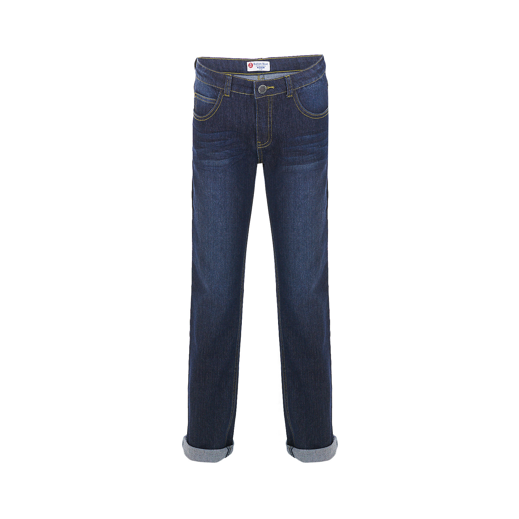 Джинсы BUTTON BLUE для мальчикаДжинсы<br>Джинсы BUTTON BLUE для мальчика<br>Синие джинсы силуэта Slim Fit  — основа модного и функционального повседневного гардероба ребенка! Хороший состав ткани, удобная посадка на фигуре подарят мальчику комфорт, свободу движений и уверенность в себе. Если вы хотите купить недорогие детские джинсы отличного качества, модель от Button Blue - прекрасный вариант!<br>Состав:<br>75% хлопок, 23%полиэстер,2% эластан<br><br>Ширина мм: 215<br>Глубина мм: 88<br>Высота мм: 191<br>Вес г: 336<br>Цвет: темно-синий<br>Возраст от месяцев: 120<br>Возраст до месяцев: 132<br>Пол: Мужской<br>Возраст: Детский<br>Размер: 146,158,152,140,134,128,122,116,110,104,98<br>SKU: 7038785