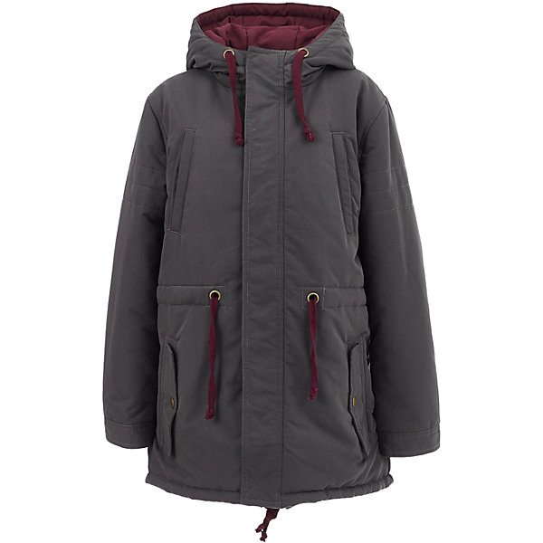 Полупальто Button Blue для мальчикаВерхняя одежда<br>Характеристики товара:<br><br>• цвет: серый;<br>• состав: 100% полиэстер;<br>• подкладка: 100% полиэстер, 100% хлопок;<br>• утеплитель: 100% полиэстер;<br>• сезон: демисезон;<br>• температурный режим: от +5 до -10С;<br>• застежка: молния по всей длине с дополнительной планкой на кнопках;<br>• защита подбородка от защемления;<br>• капюшон не отстегивается;<br>• шнурок-утяжка на капюшоне;<br>• регулируемые манжеты на кнопке;<br>• шнурок-утяжка на талии;<br>• шнурок-утяжка по низу изделия;<br>• карманы на кнопках;<br>• страна бренда: Россия;<br>• страна изготовитель: Китай.<br><br>Демисезонное пальто с капюшоном для мальчика. Пальто застегивается на молнию по всей длине с защитой подбородка от защемления. Эластичные шнурки-завязки на капюшоне, талии и по низу изделия. <br><br>Пальто Button Blue (Баттон Блю) можно купить в нашем интернет-магазине.<br>Ширина мм: 356; Глубина мм: 10; Высота мм: 245; Вес г: 519; Цвет: темно-серый; Возраст от месяцев: 120; Возраст до месяцев: 132; Пол: Мужской; Возраст: Детский; Размер: 146,140,134,128,122,116,110,104,158,152; SKU: 7038856;