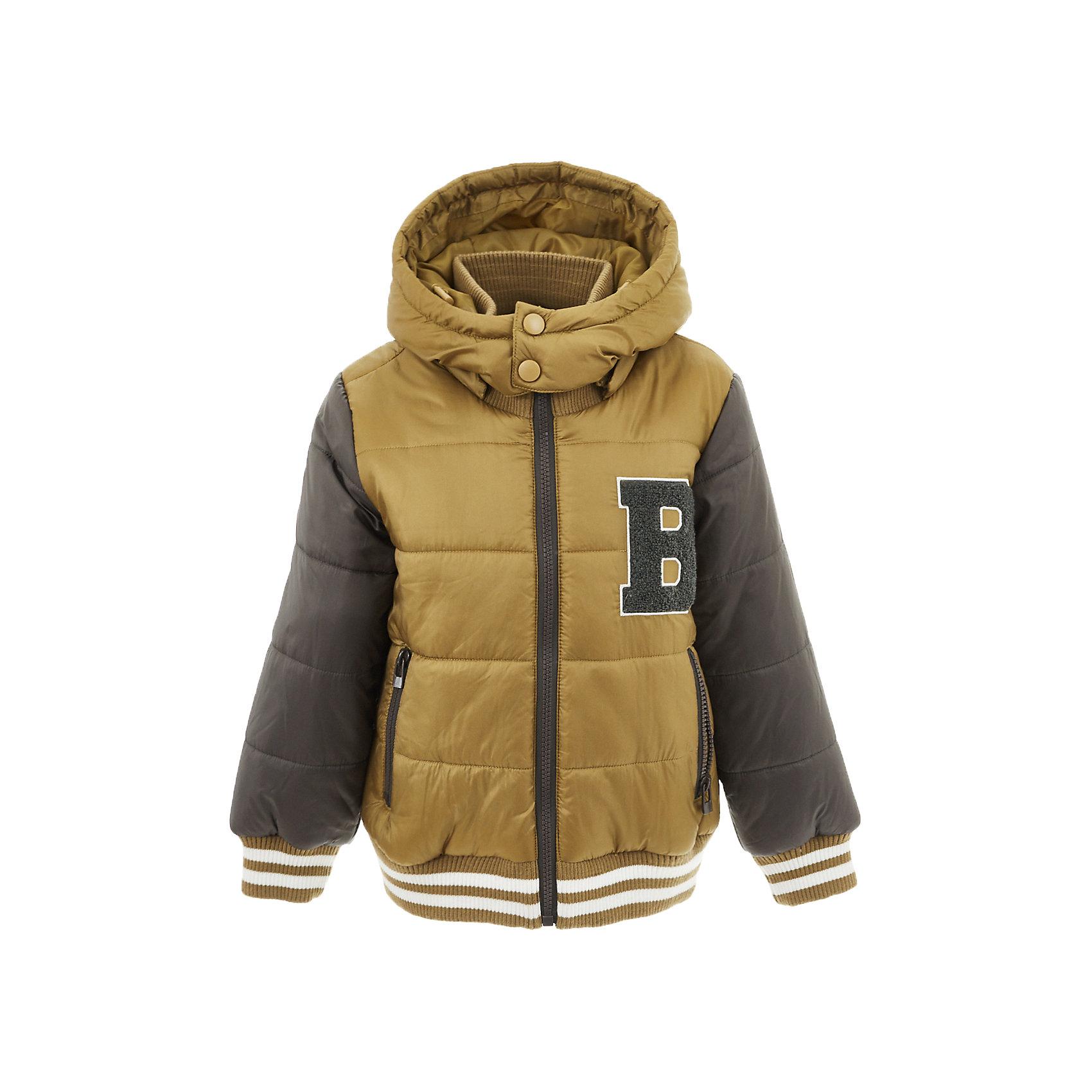 Куртка Button Blue для мальчикаВерхняя одежда<br>Характеристики товара:<br><br>• цвет: коричневый;<br>• состав: 100% полиэстер;<br>• подкладка: 100% полиэстер, 100% хлопок;<br>• утеплитель: 100% полиэстер;<br>• сезон: демисезон;<br>• температурный режим: от +5 до -10С;<br>• застежка: молния по всей длине;<br>• защита подбородка от защемления;<br>• капюшон не отстегивается;<br>• капюшон дополнен шнурком-утяжкой со стопером;<br>• высокий эластичный трикотажный воротник;<br>• эластичные трикотажные манжеты и низ изделия;<br>• карманы на молнии;<br>• страна бренда: Россия;<br>• страна изготовитель: Китай.<br><br>Демисезонная куртка с капюшоном для мальчика. Куртка застегивается на молнию по всей длине. У куртки эластичные манжеты и низ изделия, высокий трикотажный, эластичный воротник защитит шею от ветра и холода. Капюшон имеет шнурок-утяжку со стопером.<br><br>Куртку Button Blue (Баттон Блю) можно купить в нашем интернет-магазине.<br><br>Ширина мм: 356<br>Глубина мм: 10<br>Высота мм: 245<br>Вес г: 519<br>Цвет: желтый<br>Возраст от месяцев: 144<br>Возраст до месяцев: 156<br>Пол: Мужской<br>Возраст: Детский<br>Размер: 158,98,104,110,116,122,128,134,140,146,152<br>SKU: 7038867