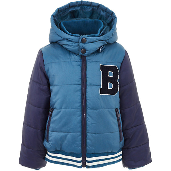 Куртка Button Blue для мальчикаВерхняя одежда<br>Характеристики товара:<br><br>• цвет: синий;<br>• состав: 100% полиэстер;<br>• подкладка: 100% полиэстер, 100% хлопок;<br>• утеплитель: 100% полиэстер;<br>• сезон: демисезон;<br>• температурный режим: от +5 до -10С;<br>• застежка: молния по всей длине;<br>• защита подбородка от защемления;<br>• капюшон не отстегивается;<br>• капюшон дополнен шнурком-утяжкой со стопером;<br>• высокий эластичный трикотажный воротник;<br>• эластичные трикотажные манжеты и низ изделия;<br>• карманы на молнии;<br>• страна бренда: Россия;<br>• страна изготовитель: Китай.<br><br>Демисезонная куртка с капюшоном для мальчика. Куртка застегивается на молнию по всей длине. У куртки эластичные манжеты и низ изделия, высокий трикотажный, эластичный воротник защитит шею от ветра и холода. Капюшон имеет шнурок-утяжку со стопером.<br><br>Куртку Button Blue (Баттон Блю) можно купить в нашем интернет-магазине.<br><br>Ширина мм: 356<br>Глубина мм: 10<br>Высота мм: 245<br>Вес г: 519<br>Цвет: бирюзовый<br>Возраст от месяцев: 24<br>Возраст до месяцев: 36<br>Пол: Мужской<br>Возраст: Детский<br>Размер: 98,158,152,146,140,134,128,122,116,110,104<br>SKU: 7038879