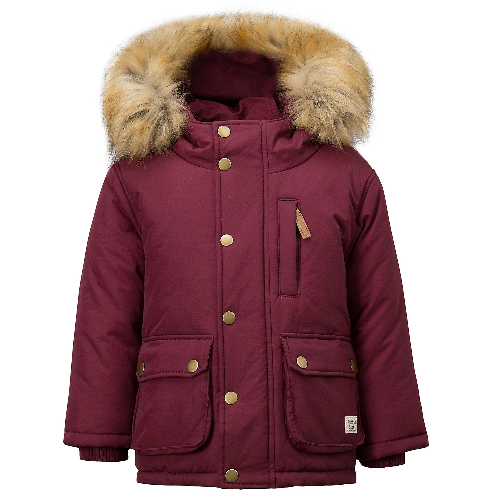 Полупальто Button Blue для мальчикаВерхняя одежда<br>Характеристики товара:<br><br>• цвет: бордовый;<br>• состав: 100% нейлон;<br>• подкладка: 100% полиэстер, 100% хлопок;<br>• утеплитель: 100% полиэстер;<br>• сезон: зима;<br>• температурный режим: от 0 до -20С;<br>• застежка: молния по всей длине с дополнительной планкой на кнопках;<br>• защита подбородка от защемления;<br>• капюшон не отстегивается;<br>• искусственный мех на капюшоне;<br>• эластичные трикотажные внутренние манжеты;<br>• внутренняя утяжка со стопером по низу изделия;<br>• два кармана на кнопках и нагрудный карман на молнии;<br>• страна бренда: Россия;<br>• страна изготовитель: Китай.<br><br>Зимняя куртка с капюшоном для мальчика. Куртка застегивается на молнию по всей длине. У куртки эластичные внутренние манжеты и регулируемый низ изделия. Капюшон отделан опушкой из искусственного меха.<br><br>Куртку Button Blue (Баттон Блю) можно купить в нашем интернет-магазине.<br><br>Ширина мм: 356<br>Глубина мм: 10<br>Высота мм: 245<br>Вес г: 519<br>Цвет: бордовый<br>Возраст от месяцев: 144<br>Возраст до месяцев: 156<br>Пол: Мужской<br>Возраст: Детский<br>Размер: 158,110,116,122,128,134,140,146,152<br>SKU: 7038925