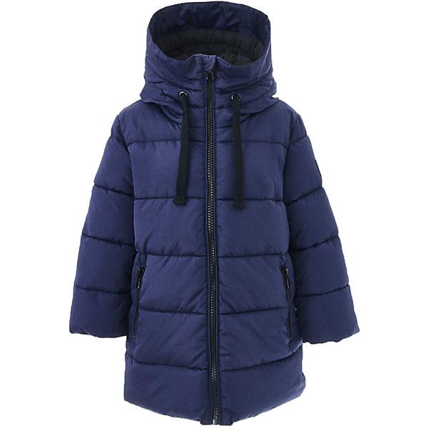 Пальто зимнее Button Blue для мальчикаВерхняя одежда<br>Характеристики товара:<br><br>• цвет: синий;<br>• состав: 100% полиэстер;<br>• подкладка: 100% полиэстер, 100% хлопок;<br>• утеплитель: 100% полиэстер;<br>• сезон: зима;<br>• температурный режим: от 0 до -20С;<br>• застежка: молния по всей длине с дополнительной планкой на кнопках;<br>• защита подбородка от защемления;<br>• капюшон не отстегивается;<br>• внутренняя часть капюшона из мягкого теплого флиса;<br>• капюшон дополнен шнурком-утяжкой со стопером;<br>• эластичные трикотажные внутренние манжеты;<br>• внутренняя утяжка со стопером по низу изделия;<br>• два боковых кармана;<br>• страна бренда: Россия;<br>• страна изготовитель: Китай.<br><br>Зимнее пальто с капюшоном для мальчика. Пальто застегивается на молнию по всей длине. У пальто эластичные внутренние манжеты и высокий воротник для защиты от ветра и холода.<br><br>Пальто Button Blue (Баттон Блю) можно купить в нашем интернет-магазине.<br>Ширина мм: 356; Глубина мм: 10; Высота мм: 245; Вес г: 519; Цвет: темно-синий; Возраст от месяцев: 72; Возраст до месяцев: 84; Пол: Мужской; Возраст: Детский; Размер: 122,128,158,152,146,140,134; SKU: 7038968;