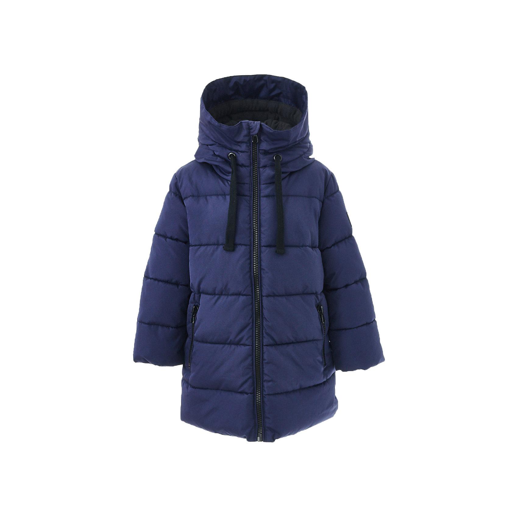 Пальто зимнее Button Blue для мальчикаВерхняя одежда<br>Характеристики товара:<br><br>• цвет: синий;<br>• состав: 100% полиэстер;<br>• подкладка: 100% полиэстер, 100% хлопок;<br>• утеплитель: 100% полиэстер;<br>• сезон: зима;<br>• температурный режим: от 0 до -20С;<br>• застежка: молния по всей длине с дополнительной планкой на кнопках;<br>• защита подбородка от защемления;<br>• капюшон не отстегивается;<br>• внутренняя часть капюшона из мягкого теплого флиса;<br>• капюшон дополнен шнурком-утяжкой со стопером;<br>• эластичные трикотажные внутренние манжеты;<br>• внутренняя утяжка со стопером по низу изделия;<br>• два боковых кармана;<br>• страна бренда: Россия;<br>• страна изготовитель: Китай.<br><br>Зимнее пальто с капюшоном для мальчика. Пальто застегивается на молнию по всей длине. У пальто эластичные внутренние манжеты и высокий воротник для защиты от ветра и холода.<br><br>Пальто Button Blue (Баттон Блю) можно купить в нашем интернет-магазине.<br><br>Ширина мм: 356<br>Глубина мм: 10<br>Высота мм: 245<br>Вес г: 519<br>Цвет: темно-синий<br>Возраст от месяцев: 144<br>Возраст до месяцев: 156<br>Пол: Мужской<br>Возраст: Детский<br>Размер: 128,134,140,146,152,158,122<br>SKU: 7038968