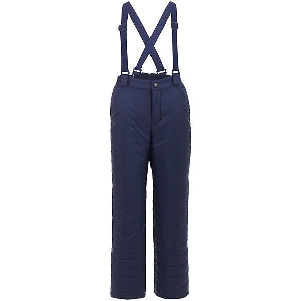 Брюки Button Blue для мальчикаВерхняя одежда<br>Характеристики товара:<br><br>• цвет: синий;<br>• состав: 100% полиэстер;<br>• подкладка: 100% полиэстер;<br>• утеплитель: 100% полиэстер, синтепон;<br>• сезон: зима;<br>• температурный режим: от 0 до -20С;<br>• застежка: ширинка на молнии и пуговица;<br>• плащевая непромокаемая ткань;<br>• снегозащитные манжеты у штанин;<br>• съемные, эластичные и регулируемые подтяжки;<br>• страна бренда: Россия;<br>• страна изготовитель: Китай.<br><br>Зимние брюки для мальчика. Брюки на подтяжках, подтяжки съемные и их можно регулировать. По низу штанин имеется внутренний снегозащитный манжет. <br><br>Брюки Button Blue (Баттон Блю) можно купить в нашем интернет-магазине.<br>Ширина мм: 215; Глубина мм: 88; Высота мм: 191; Вес г: 336; Цвет: темно-синий; Возраст от месяцев: 24; Возраст до месяцев: 36; Пол: Мужской; Возраст: Детский; Размер: 98,158,152,146,140,134,128,122,116,110,104; SKU: 7039012;