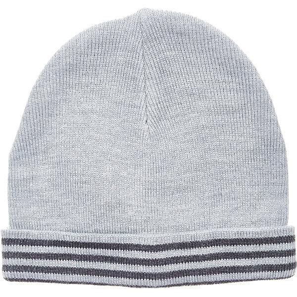 Шапка Button Blue для мальчикаГоловные уборы<br>Характеристики товара:<br><br>• цвет: серый;<br>• состав: 100% акрил;<br>• без дополнительного утепления;<br>• сезон: демисезон, зима;<br>• температурный режим: от +5 до -10С;<br>• особенности: вязаная;<br>• шапка с отворотом;<br>• страна бренда: Россия;<br>• страна изготовитель: Китай.<br><br>Вязаная шапка с отворотом для мальчика. Демисезонная шапка для мальчика дополнена полосками контрастного цвета.<br><br>Шапку Button Blue (Баттон Блю) можно купить в нашем интернет-магазине.<br><br>Ширина мм: 89<br>Глубина мм: 117<br>Высота мм: 44<br>Вес г: 155<br>Цвет: серый<br>Возраст от месяцев: 24<br>Возраст до месяцев: 36<br>Пол: Мужской<br>Возраст: Детский<br>Размер: 50,56,54,52<br>SKU: 7039055