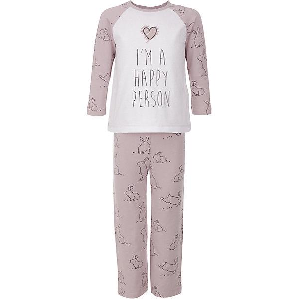 Пижама Button Blue для девочкиПижамы и сорочки<br>Характеристики товара:<br><br>• цвет: розовый;<br>• состав: 95% хлопок, 5% эластан;<br>• сезон: круглый год;<br>• особенности: с рисунком;<br>• страна бренда: Россия;<br>• страна изготовитель: Китай.<br><br>Пижама для девочки. Пижама состоит из кофты с длинным рукавом и штанах на резинке. Пижама с рисунком в виде зайчиков.<br><br>Пижаму Button Blue (Баттон Блю) можно купить в нашем интернет-магазине.<br><br>Ширина мм: 281<br>Глубина мм: 70<br>Высота мм: 188<br>Вес г: 295<br>Цвет: розовый<br>Возраст от месяцев: 108<br>Возраст до месяцев: 120<br>Пол: Женский<br>Возраст: Детский<br>Размер: 140,128,104,98,116,152<br>SKU: 7039306