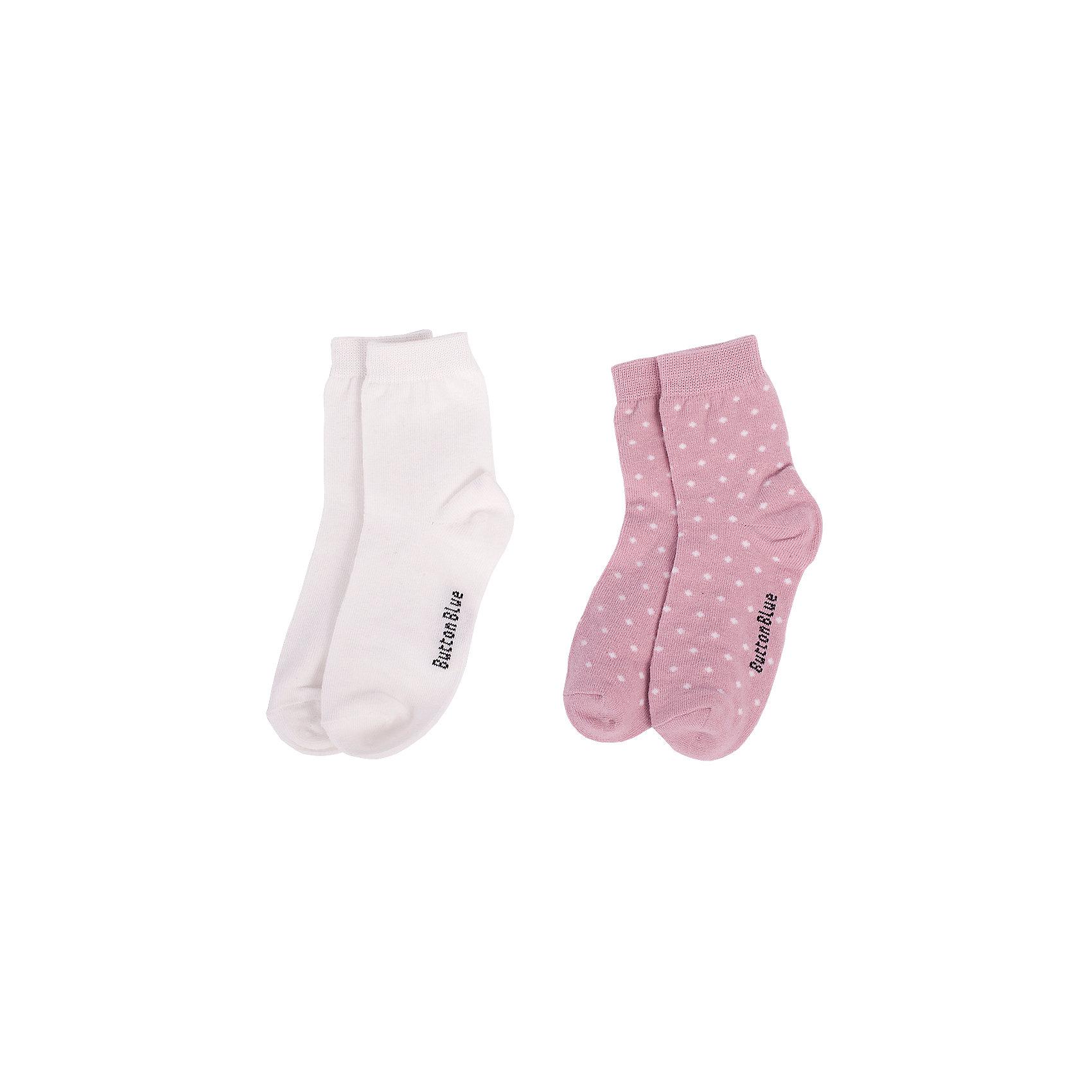 Носки BUTTON BLUE для девочкиНоски<br>Носки BUTTON BLUE для девочки<br>Детские носки - необходимая вещь на каждый день. И их в гардеробе ребенка должно быть немало. Если вы решили дополнить осенне-зимний гардероб ребенка хлопковыми носками, попробуйте купить комплект из двух пар. Вы думаете, что хорошие, качественные и недорогие детские носки - это невозможно? Носки от Button Blue убедят вас в обратном.<br>Состав:<br>80%хлопок 18%полиамид 2% эластан<br><br>Ширина мм: 87<br>Глубина мм: 10<br>Высота мм: 105<br>Вес г: 115<br>Цвет: белый<br>Возраст от месяцев: 15<br>Возраст до месяцев: 18<br>Пол: Женский<br>Возраст: Детский<br>Размер: 22,14,16,20<br>SKU: 7039327