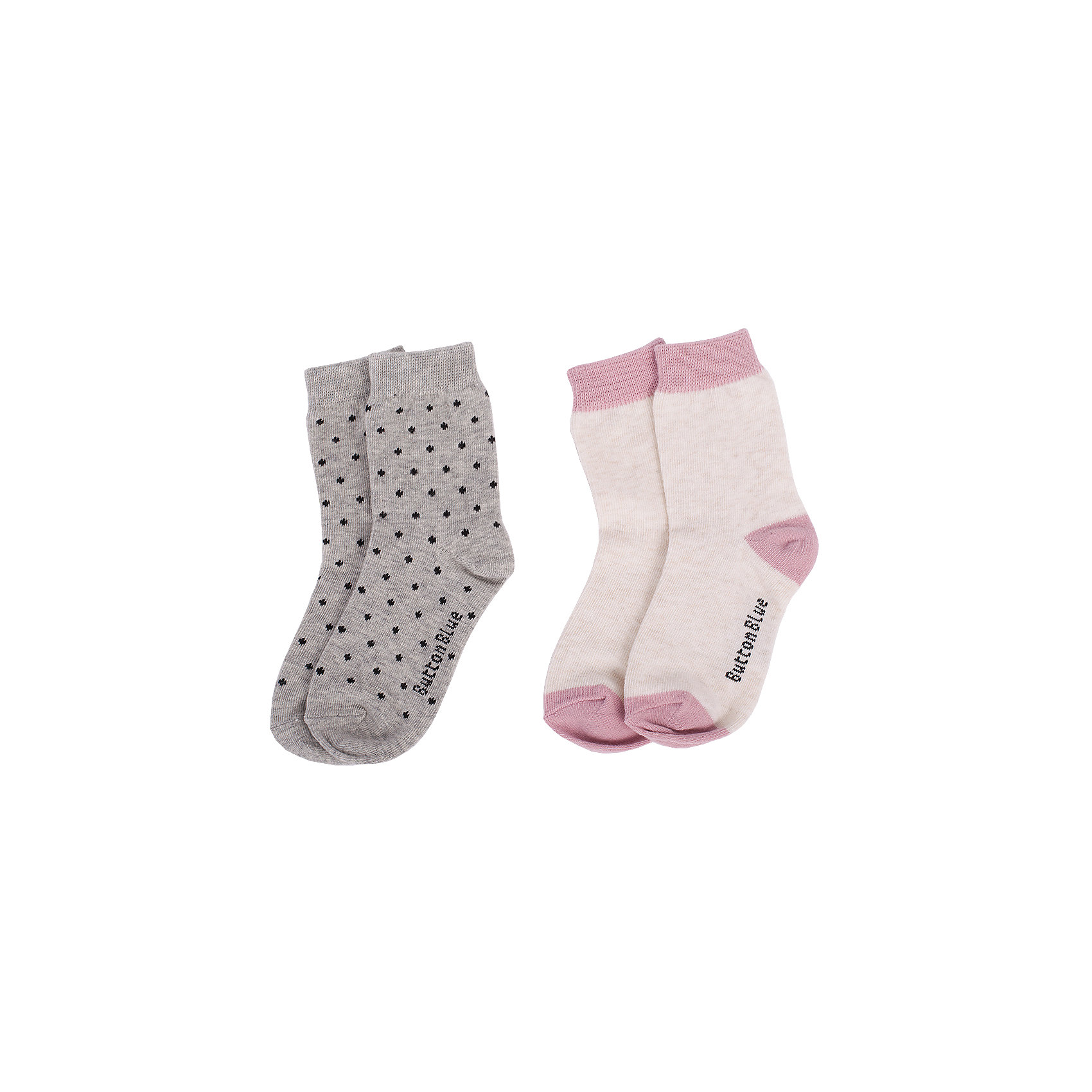 Носки BUTTON BLUE для девочкиНоски<br>Носки BUTTON BLUE для девочки<br>Детские носки - необходимая вещь на каждый день. И их в гардеробе ребенка должно быть немало. Если вы решили дополнить осенне-зимний гардероб ребенка хлопковыми носками, попробуйте купить комплект из двух пар. Вы думаете, что хорошие, качественные и недорогие детские носки - это невозможно? Носки от Button Blue убедят вас в обратном.<br>Состав:<br>80%хлопок 18%полиамид 2% эластан<br><br>Ширина мм: 87<br>Глубина мм: 10<br>Высота мм: 105<br>Вес г: 115<br>Цвет: серый<br>Возраст от месяцев: 15<br>Возраст до месяцев: 18<br>Пол: Женский<br>Возраст: Детский<br>Размер: 22,14,16,20<br>SKU: 7039332