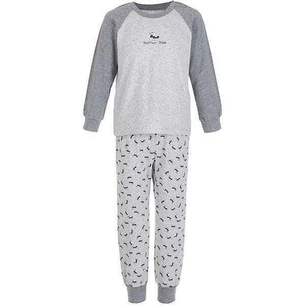 Пижама Button Blue для мальчикаПижамы и сорочки<br>Характеристики товара:<br><br>• цвет: серый;<br>• состав: 95% хлопок, 5% эластан;<br>• сезон: круглый год;<br>• особенности: с рисунком;<br>• страна бренда: Россия;<br>• страна изготовитель: Китай.<br><br>Пижама для мальчика. Пижама состоит из кофты с длинным рукавом и штанах на резинке. Пижама с рисунком в виде муравьишек.<br><br>Пижаму Button Blue (Баттон Блю) можно купить в нашем интернет-магазине.<br>Ширина мм: 281; Глубина мм: 70; Высота мм: 188; Вес г: 295; Цвет: серый; Возраст от месяцев: 24; Возраст до месяцев: 36; Пол: Мужской; Возраст: Детский; Размер: 98,104,116,128,140,152; SKU: 7039384;