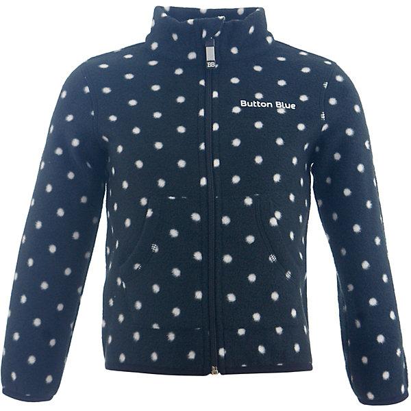Флисовая кофта Button Blue для девочкиФлис и термобелье<br>Характеристики товара:<br><br>• цвет: синий;<br>• состав: 100% полиэстер, флис;<br>• сезон: демисезон, зима;<br>• застежка: молния с защитой подбородка;<br>• теплый, мягкий флис;<br>• мягкая эластичная резинка на манжетах;<br>• два кармана;<br>• страна бренда: Россия;<br>• страна изготовитель: Китай.<br><br>Флисовая толстовка на молнии для девочки. Кофта в горох застегивается на молнию с защитой подбородка от защемления. Спереди два кармана.<br><br>Кофту Button Blue (Баттон Блю) можно купить в нашем интернет-магазине.<br>Ширина мм: 356; Глубина мм: 10; Высота мм: 245; Вес г: 519; Цвет: черный; Возраст от месяцев: 36; Возраст до месяцев: 48; Пол: Женский; Возраст: Детский; Размер: 140,134,128,122,116,110,104,98,158,152,146; SKU: 7039454;