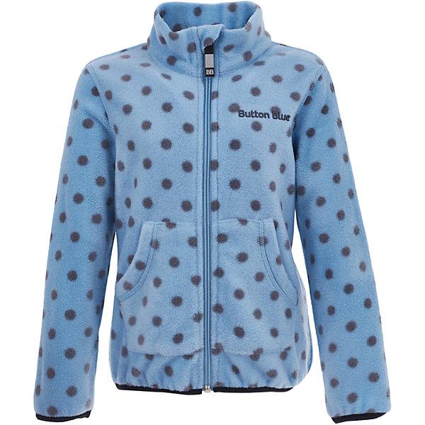 Флисовая кофта Button Blue для девочкиФлис и термобелье<br>Характеристики товара:<br><br>• цвет: голубой;<br>• состав: 100% полиэстер, флис;<br>• сезон: демисезон, зима;<br>• застежка: молния с защитой подбородка;<br>• теплый, мягкий флис;<br>• мягкая эластичная резинка на манжетах;<br>• два кармана;<br>• страна бренда: Россия;<br>• страна изготовитель: Китай.<br><br>Флисовая толстовка на молнии для девочки. Кофта в горох застегивается на молнию с защитой подбородка от защемления. Спереди два кармана.<br><br>Кофту Button Blue (Баттон Блю) можно купить в нашем интернет-магазине.<br><br>Ширина мм: 356<br>Глубина мм: 10<br>Высота мм: 245<br>Вес г: 519<br>Цвет: голубой<br>Возраст от месяцев: 120<br>Возраст до месяцев: 132<br>Пол: Женский<br>Возраст: Детский<br>Размер: 146,98,158,152,140,134,128,122,116,110,104<br>SKU: 7039478
