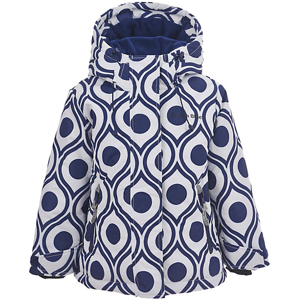 Куртка Button Blue для девочкиВерхняя одежда<br>Характеристики товара:<br><br>• цвет: синий/белый;<br>• состав: 100% полиэстер;<br>• подкладка: 100% полиэстер, флис;<br>• утеплитель: 100% полиэстер;<br>• сезон: зима;<br>• температурный режим: от 0 до -20С;<br>• застежка: молния с защитой подбородка;<br>• дополнительная защитная планка на липучках;<br>• сплошная подкладка из флиса;<br>• эластичные регулируемые манжеты на липучке;<br>• внутренний манжет с отверстием для большого пальца;<br>• водоотталкивающая ткань;<br>• внутренняя утяжка по низу изделия;<br>• карманы на молнии;<br>• страна бренда: Россия;<br>• страна изготовитель: Китай.<br><br>Яркая куртка из мембранной плащевки понравится всем любителям активных прогулок! Куртка сделана с соблюдением основных технологических особенностей производства спортивной одежды. Она не промокает, сохраняет тепло, трикотажная подкладка из мягкого флиса создает комфорт при длительной носке, утяжки защищают от продувания, светоотражающие элементы обеспечивают безопасность ребенка. Водоотталкивающая ткань с оригинальным рисунком делает куртку запоминающейся.<br><br>Куртку Button Blue (Баттон Блю) можно купить в нашем интернет-магазине.<br><br>Ширина мм: 356<br>Глубина мм: 10<br>Высота мм: 245<br>Вес г: 519<br>Цвет: белый<br>Возраст от месяцев: 24<br>Возраст до месяцев: 36<br>Пол: Женский<br>Возраст: Детский<br>Размер: 98,158,152,146,140,134,128,122,116,110,104<br>SKU: 7039502