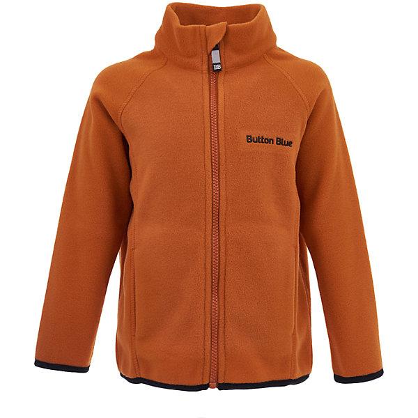 Куртка Button Blue для мальчикаФлис и термобелье<br>Характеристики товара:<br><br>• цвет: оранжевый;<br>• состав: 100% полиэстер, флис;<br>• сезон: демисезон, зима;<br>• застежка: молния с защитой подбородка;<br>• теплый, мягкий флис;<br>• мягкая эластичная резинка на манжетах;<br>• два кармана;<br>• страна бренда: Россия;<br>• страна изготовитель: Китай.<br><br>Флисовая толстовка на молнии для мальчика. Кофта застегивается на молнию с защитой подбородка от защемления. Спереди два кармана.<br><br>Кофту Button Blue (Баттон Блю) можно купить в нашем интернет-магазине.<br><br>Ширина мм: 356<br>Глубина мм: 10<br>Высота мм: 245<br>Вес г: 519<br>Цвет: желтый<br>Возраст от месяцев: 48<br>Возраст до месяцев: 60<br>Пол: Мужской<br>Возраст: Детский<br>Размер: 110,140,134,128,122,116,104,98,158,152,146<br>SKU: 7039554